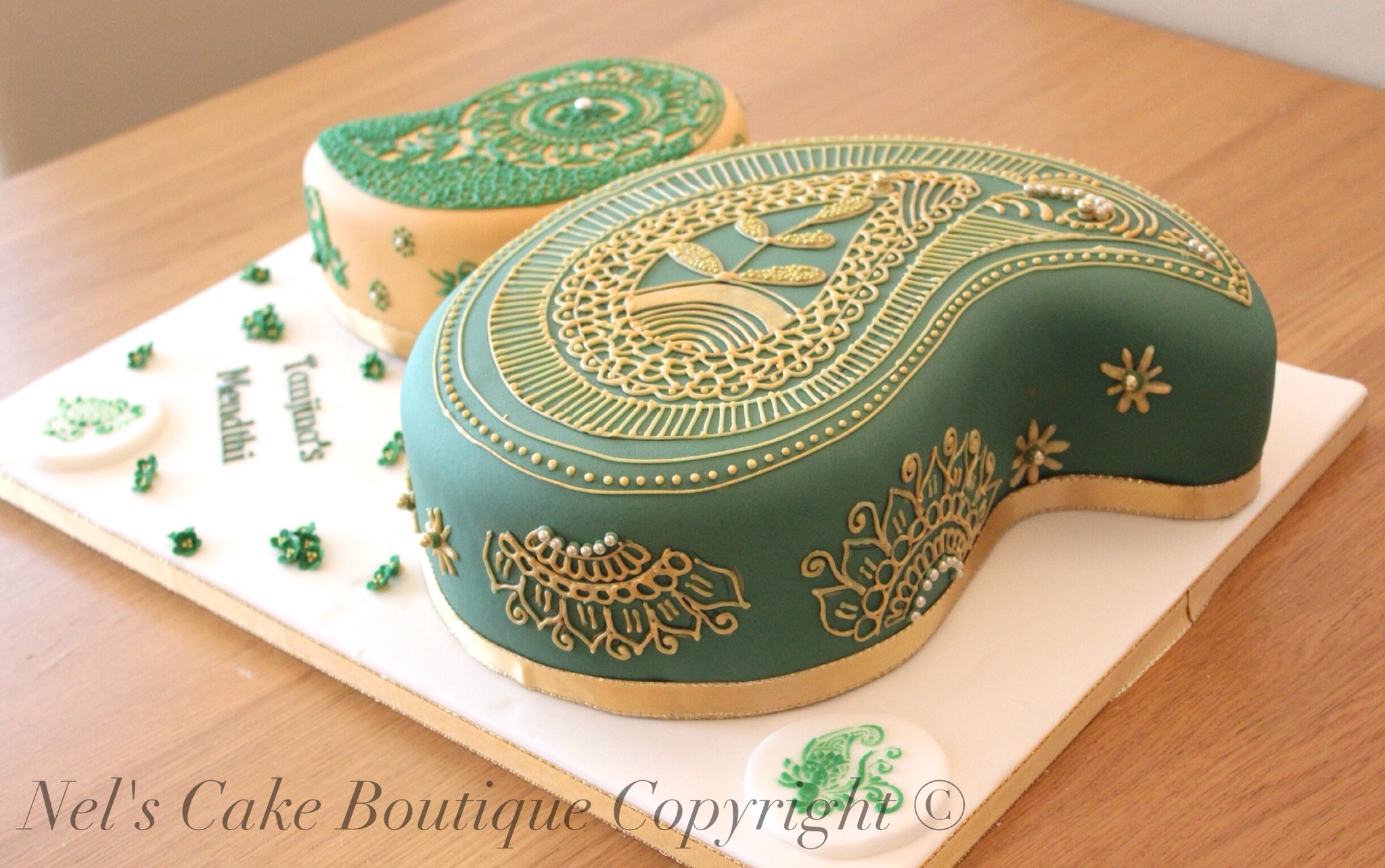 Architecture And Design Cake : Paisley Henna Design Cake Tutorial?   Nel s Cake Boutique